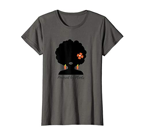 Vegan T Shirt - Funny Black Vegan Afro Carrot Plant Based -