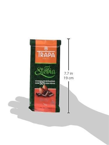 Trapa Tableta de Chocolate Extrafino Negro 50%, con Stevia - 75 gr: Amazon.es: Alimentación y bebidas