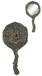 Art Nouveau Peacock Hand Mirror Collectible Decoration