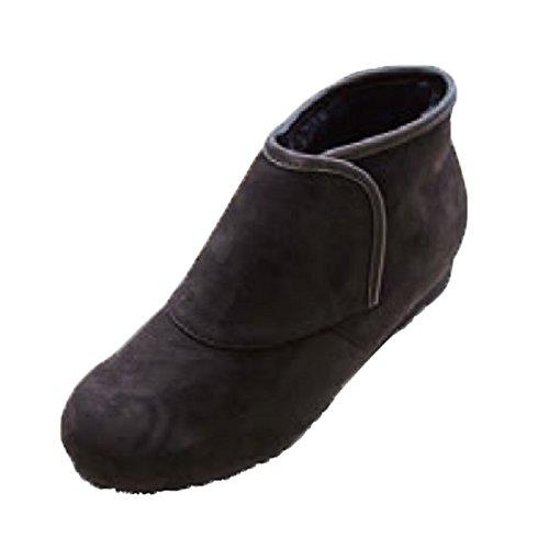 防寒ブーツ リシェス 防滑ソール ブラウン 冬 女性用 婦人 高齢者 靴 ウォーキングシューズ 安心 補助 介護 敬老 贈り物/L(23.5cm~24.0cm) B075SZDMDY   L(23.5cm~24.0cm)