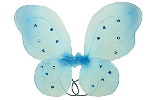 """1 - (17"""" x 13"""") Butterfly Fairy Costume Wings Light Blue Color Tkdream from Unknown"""