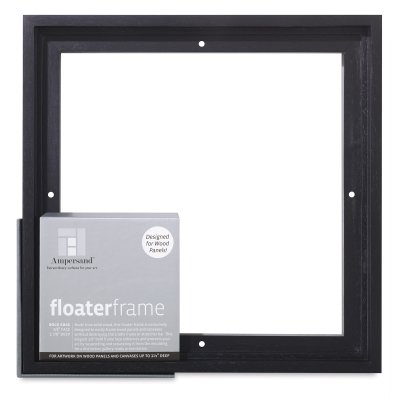 Ampersand Floaterframe for Wood Panels, 1.5 Inch Depth, Bold, 12x16 Inch, Maple (FBOLD151216M)