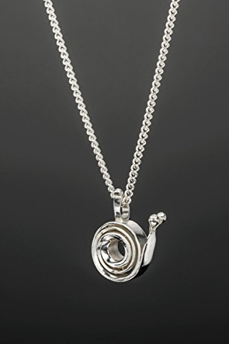 Sterling Silver Snail Pendant Necklace, Cute Handmade Spiral Nature Inspired Charm, Unique Gift for Women -