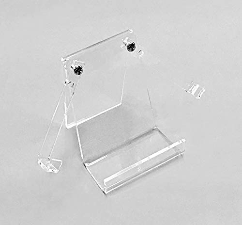 - Fan Display Stand Holder Easel for Collector Antique Folding Hand Fans, Clear (Small - 3.5