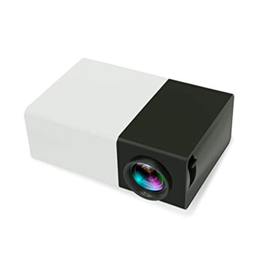Mini Portable LED Projector, Smartphone Pocket Projector with AV USB SD HDMI for Video/Movie/Game/Home Theater Video Projector