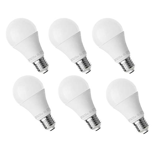 Worbest A19 LED Light Bulb, (75W Equivalent) 12W, 1050LM, 3000K(Soft White Glow), E26 Medium Screw Base, Dimmable Light Bulbs, 3 Years Warranty, Energy Saving UL - Listed Pack of 6