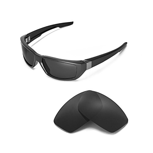 Walleva Replacement Lenses for Spy Optic Dirty MO Sunglasses - Multiple Options Available (Black - ()