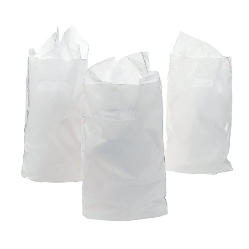 White Plastic Bags Party Favor