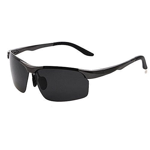 Gun Aluminum Sunglasses Sunglasses Fauhsto Outdoor Men's Riding Lens grey Glasses Magnesium Sunglasses Stand Polarized Frame HIdaPanq