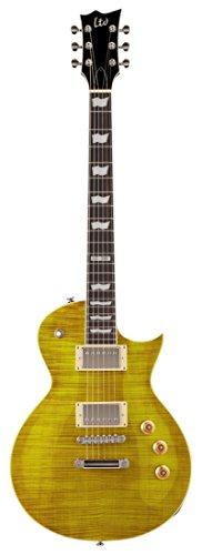 Esp Les Paul - ESP LTD EC256FM Electric Guitar, Lemon Drop