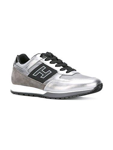 Hogan Mænd Hxm3210y130gcg754e Sølv / Sort Læder Sneakers fYJkFIsy