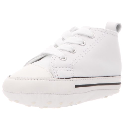 Converse First Star Hi White Leather 81229 Crib Size 1 - Baby Converse Shoes Size 1