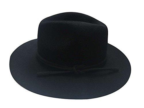 D'automne Acvip Femme Couleur Large Chapeau Classique Bord Noir Collocation Hiver Capeline rrHF0q