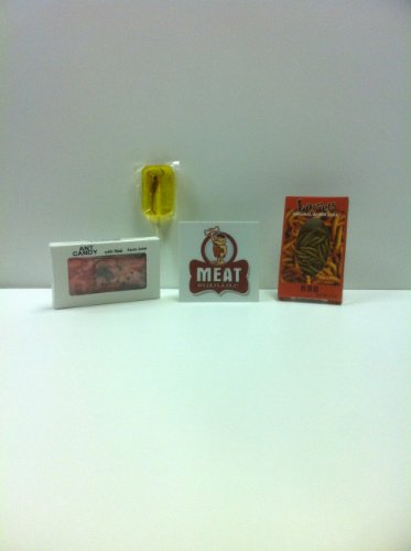 MEAT MANIAC INSECT & BUG CANDY Sampler Gift Pack with Sticker- Ant Candy- Cherry, Scorpion Sucker- Banana & Larvets- (Halloween Fear Factor Party Ideas)