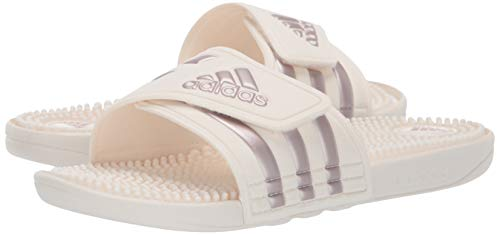 Adidas Cloud Femme White Adissage Metallic cloud White Grey vapour Originals ZEtrnxqwpZ