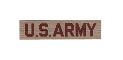 US Army Name Tape Desert Tan Uniform Insignia Desert Storm