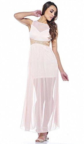 Sexy Kleid mit Pailetten Peach