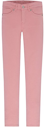Girls Pink Denim (Levi's Big Girls' 710 Super Skinny Fit Knit Jeans, Blush, 10)