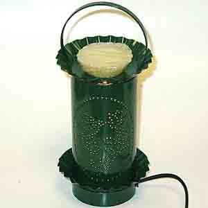 Punched Metal Electric Tart Burner - Green/Hummingbird