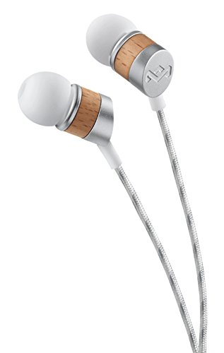 House of Marley, Uplift Wired In-Ear Headphones - 3-Button Control with Microphone on Cable, Noise Isolating, 8mm Dynamic Driver, 3 Ear Tip Sizes, Tangle-Free Braided Cable, EM-JE033-DR Drift