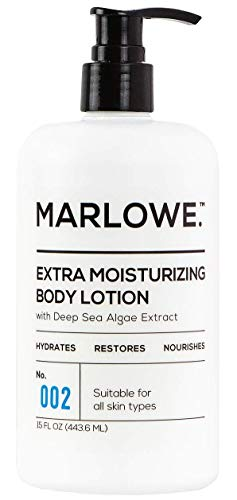 (MARLOWE. 002 Extra Moisturizing Body Lotion 15 oz | Daily Lotion for Dry Skin for Men and Women | Light Fresh Scent | Made with Natural Ingredients | Vegan & Cruelty-Free)
