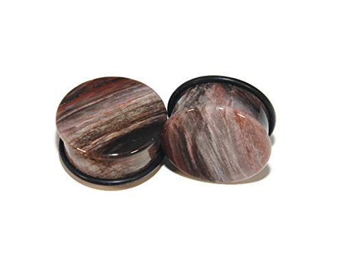 Intrepid Jewelry Leopardskin Jasper Single Flare Stone Plugs