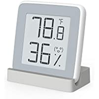 MiaoMiaoCe Digital Hygrometer Thermometer Indoor, Humidity Monitor Temperature Gauge Humidity Meter, E-Ink Screen Multifunctional Hygrometer Baby, Kids, Home, Car, Office, etc.