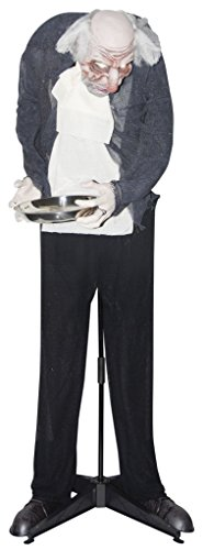 Sunstar Animated Haunting Halloween Butler with Candy Tray ()