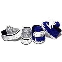 Zapatos para niño gris y azul (0 a 3 meses)