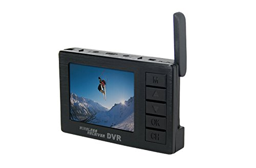 BOSCAM DV01S FPV 8 Channel Mini Video Camera 5.8G Wireless Receiver DVR Audio 2.4 Inch HD LCD