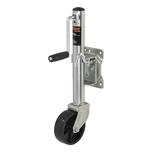 - CURT 28112 Marine Boat Trailer Jack with 6-Inch Wheel 1,200 lbs, 11 Inches Vertical Travel