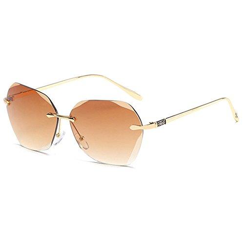 Aoligei Film océan couleur européennes et américaines sans frame lunettes de soleil fashion lunettes de soleil métal Dame tendance lunettes de soleil n5HRHL3
