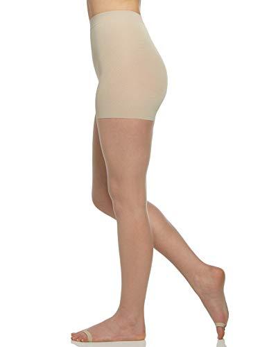 - Berkshire Women's The Easy On! Luxe Ultra Nude Open Toe Premium Pantyhose, Nude, 2XLarge