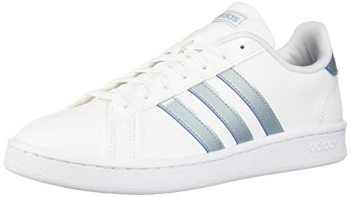 - adidas Women's Grand Court Sneaker, White/ash Grey/Light Granite, 10.5 M US