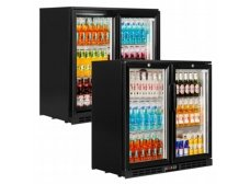 interlevin PD20Barra de alcance y contador Display refrigerante refrigerati pantalla con Negro Puerta Corredera 900(H) X900(L) X520(D) 210L 2para puerta estantes -2año partes garantía incluida
