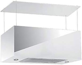 Campana Blanca para cocina a Isla pantalla Touch luz LED 75 x 35 cm: Amazon.es: Hogar