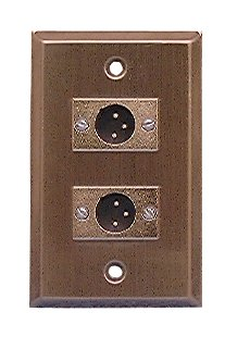 Philmore Stainless Steel Wall Plate with Two  XLR 3-Pin Male