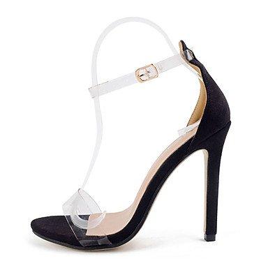 LvYuan Tacón Robusto-Zapatos del club-Sandalias-Vestido-Goma-Negro Black