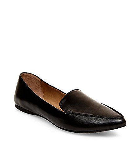 Steve Madden Women's Feather Loafer Flat Black