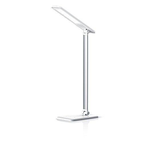Brandson - dimmbare LED Schreibtischlampe   Augenschutz - 3 Helligkeitsstufen (Touch Key)   Touch-Bedienung (berührungsgesteuert)   100° Strahlungswinkel   Nachtlicht-Modus  weiß