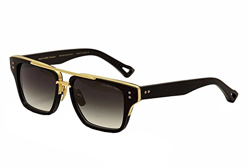 d9d88f45d35 Dita Mach Three DRX-2059-A DRX-2059A Matte Black 18K Gold Retro Sunglasses  55mm - Buy Online in UAE.