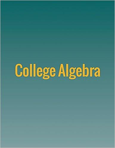 College Algebra: Jay Abramson: 9781680920376: Amazon.com: Books