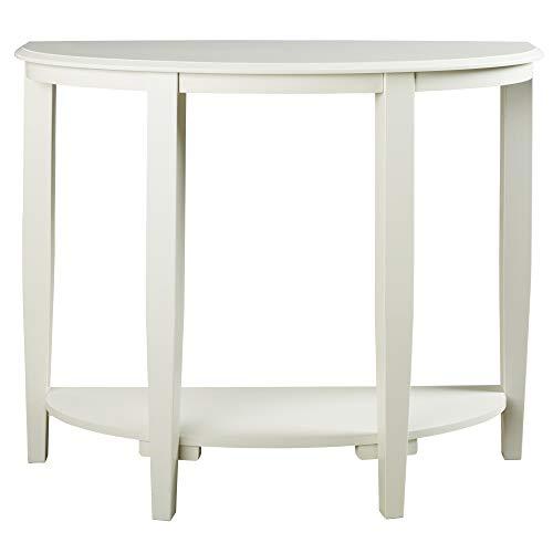 half moon console table white - 8