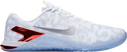 timeless design 97860 41e53 Nike Metcon 4 Premium Size 13 Mens Cross Training White Metallic Silver-Game  Red Shoes
