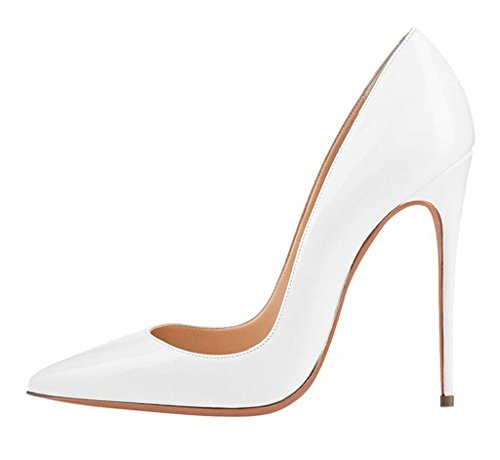 White Heel Slip EDEFS Dress on Extreme Womens Court Shoes Pumps Shoes Toe High Ladies Pointed wW6XUpq6xZ
