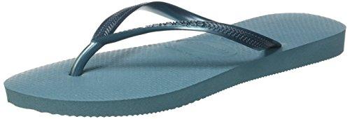 Havaianas Slim, Chanclas Para Mujer Azul (Mineral Blue)