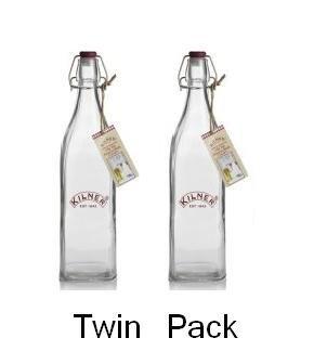 Kilner Clip Top Preserver Bottle 1Litre (Twin Pack)
