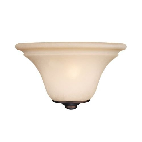 Capital Lighting 1991BB Wall Sconce with Mist Scavo Glass Shades, Burnished Bronze Finish