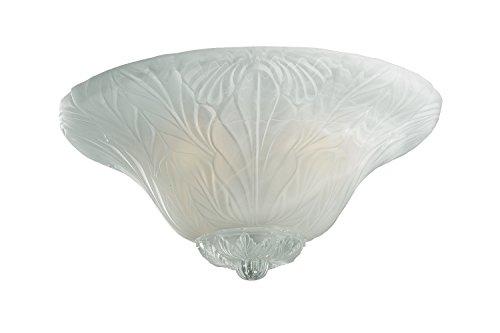 Monte Carlo MC172-l Leaf Bowl Light Kit, White Faux Alabaster glass