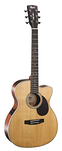 Cort L100-OC NS Luce Series Acoustic-Electric Guitar OM Body Solid Spruce Top, Natural Satin